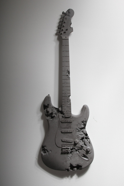, 'Obsidian Eroded Guitar,' 2014, Pippy Houldsworth Gallery
