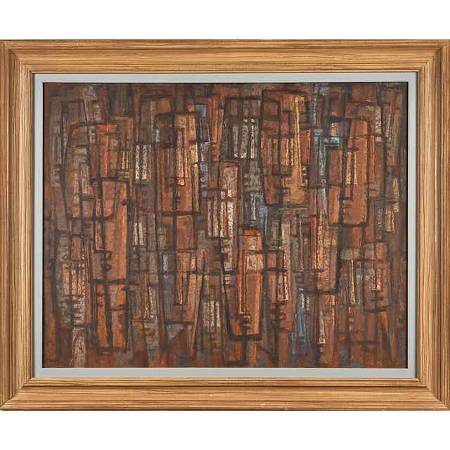 Frederic Weinberg, 'Untitled Painting (Abstract Faces) (Framed), Philadelphia, PA', Rago/Wright