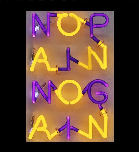 , 'NOPAINNOGAIN,' 2014, Walter Storms Galerie