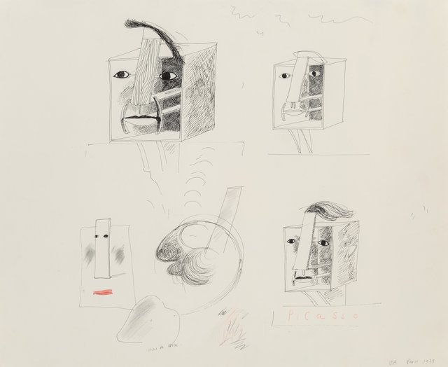 David Hockney, 'Studies for Picassoid Picassos', 1973, Heritage Auctions