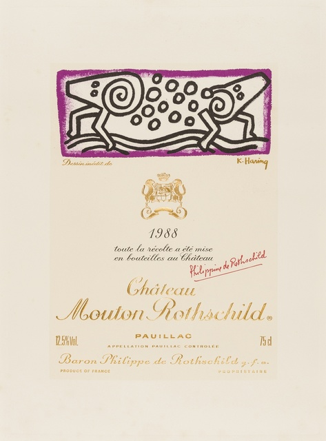 Keith Haring, 'Chateau Mouton Rothschild', 1988, Forum Auctions
