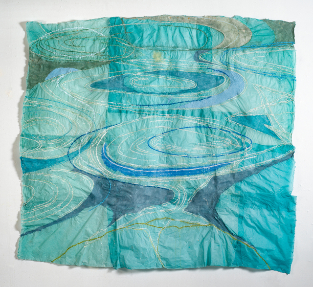 Nancy Cohen, 'Reversing Falls', 2018, Drawing, Collage or other Work on Paper, Paper pulp on handmade paper, Kathryn Markel Fine Arts