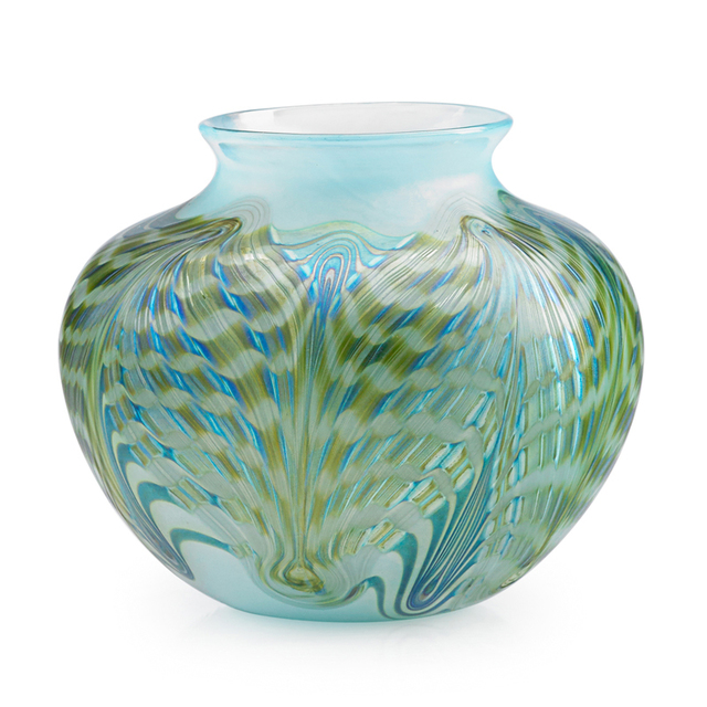 Loetz, 'Phänomen Vase, Austria', ca. 1900, Design/Decorative Art, Blown Glass, Rago/Wright