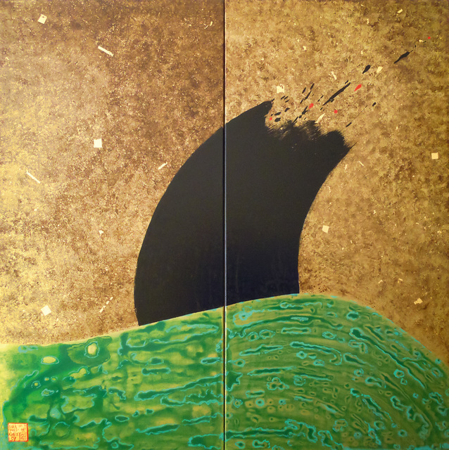 , 'The Wave II- Diptychon,' 2012, Galerie AM PARK