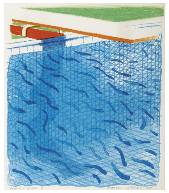 David Hockney, 'Pool Made of Paper and Blue Ink for Book', 1980, Christie's