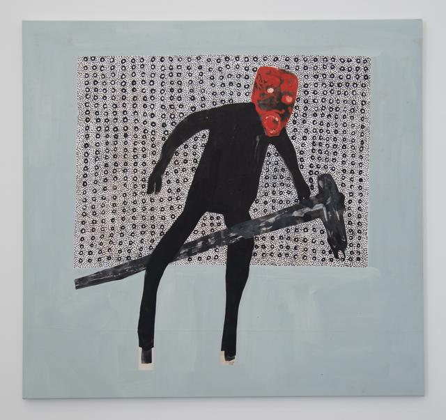 Amadou Sanogo, 'Le cavalier du cheval à tige de mile ne fait que cavaler lui-même', 2020, Painting, Acrylic on canvas, Magnin-A
