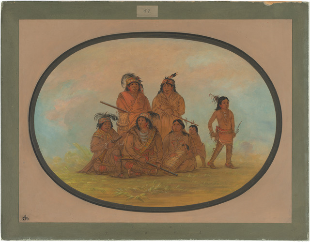 George Catlin, 'Seminolee Indians, Prisoners at Fort Moultrie', 1861/1869, Painting, Oil on card mounted on paperboard, National Gallery of Art, Washington, D.C.