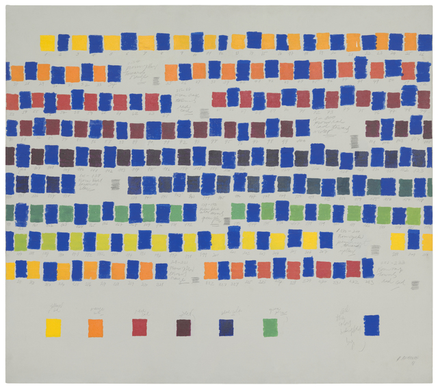 , 'All the colors interpolated by blue,' 1981, Herlitzka + Faria