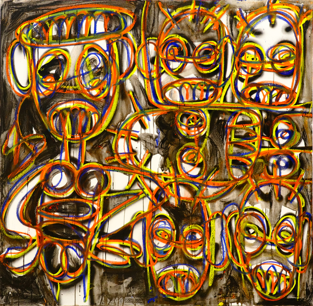 Aboudia, 'Sass', 2021, Painting, Acrylic, spray paint, and oil pastel on canvas, Ethan Cohen Gallery