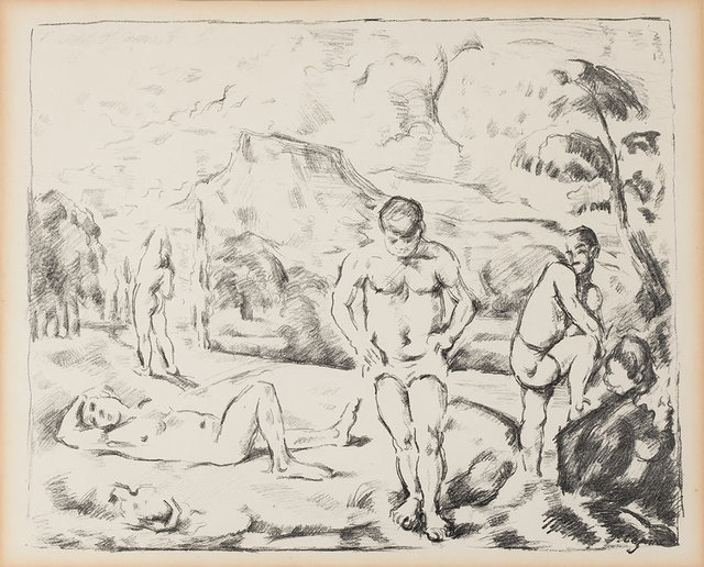 Paul Cézanne, 'Les Baigneurs (Grande Planche) (Venturi 1157; Druick 1)', 1896-7, Doyle