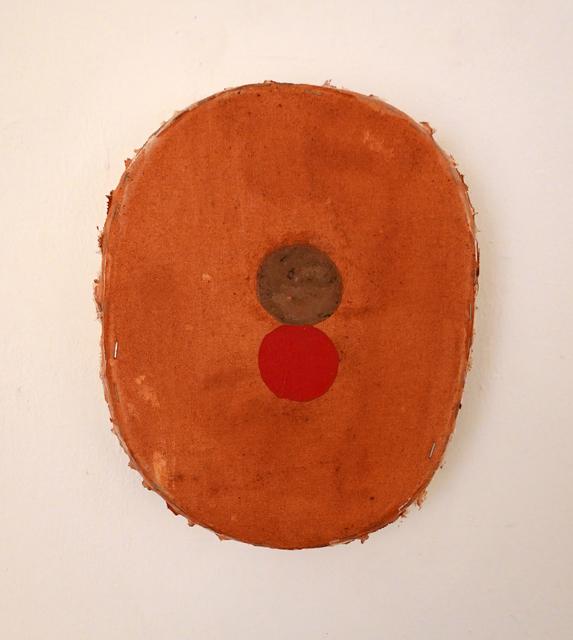 Otis Jones, 'Rust with 2 Circles One Red', 2019, William Campbell Contemporary Art, Inc.