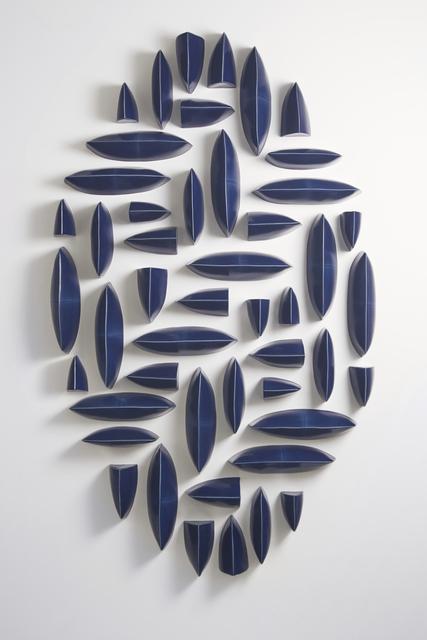 , 'Wall Pillows Blue Oval I,' 2017, Hostler Burrows