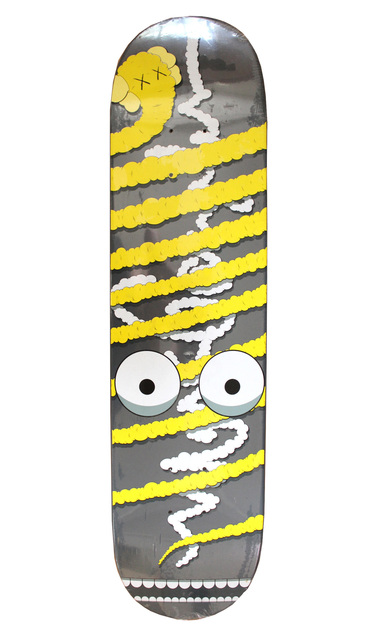 KAWS, 'Limited Edition Yellow Bendy Skateboard deck', 2005, EHC Fine Art Gallery Auction