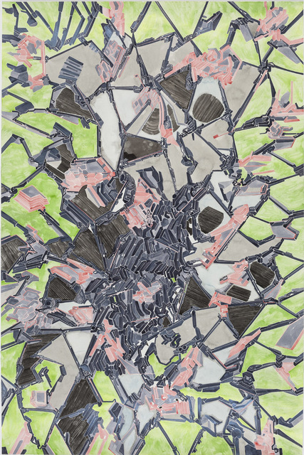 , 'Details of my abstract painting that form a parallel world composed of machines. NO. 16,' 2014, A+ Contemporary