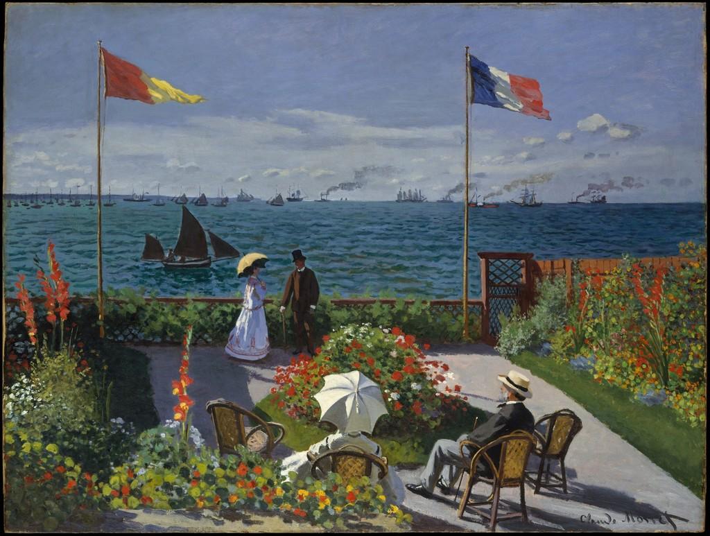 Claude Monet Garden At Sainte Adresse 1867