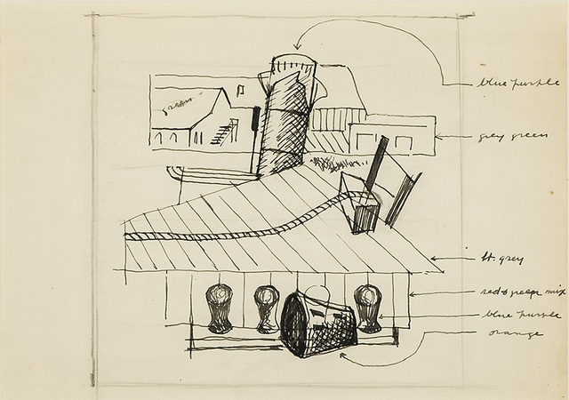 ", 'Study for ""Waterfront"",' 1933, Hirschl & Adler Galleries"