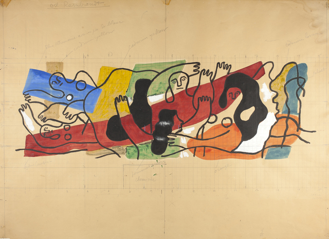 , 'Study for the mural painting for the home of Mr. and Mrs. Wallace Harrison,' ca. 1942, Museum Ludwig