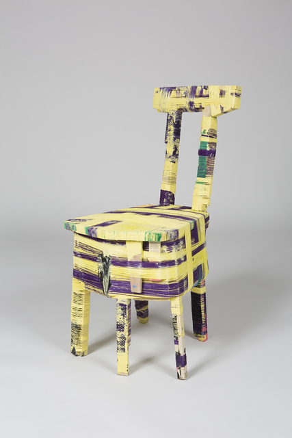 Anton Alvarez, 'The Thread Wrapping Machine Chair 090415', 2015, Mixed Media, Polyester thread, fabric, fake-fur, pva glue, color pigment, mdf, plywood, osb, wood, plastic and metal, Museum of Fine Arts, Boston
