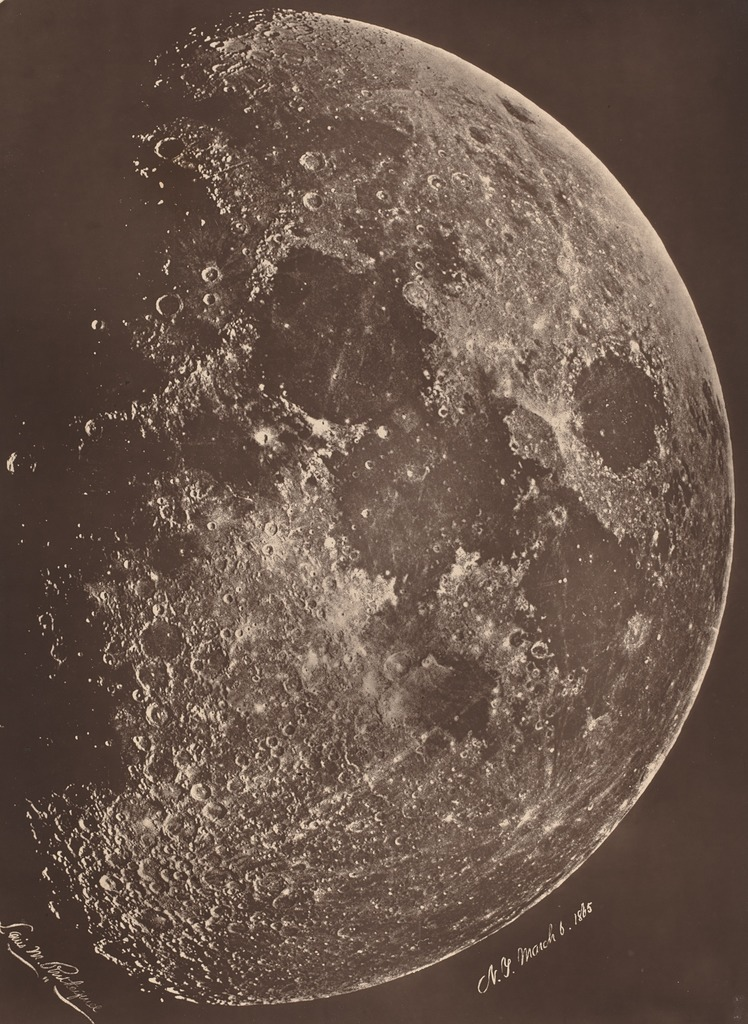 Lewis rutherford photographie de la lune a son 1er for La photographie