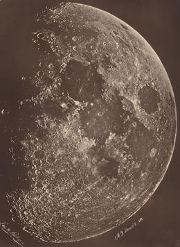 Lewis Rutherford, 'Photographie de la lune a son 1er Quartier', 1865, Photography, Albumen print, National Gallery of Art, Washington, D.C.