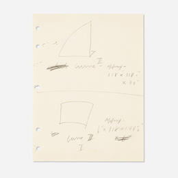 Untitled (Studies for Curve I and II)