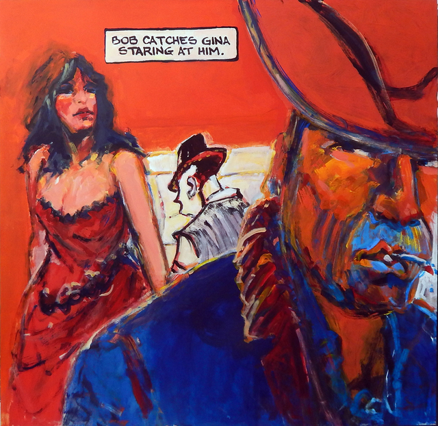 , 'Gina Eyes Bob,' 2016, Porch Gallery