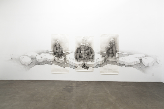 , 'Chimps with Skulls,' 2016, Lora Schlesinger Gallery