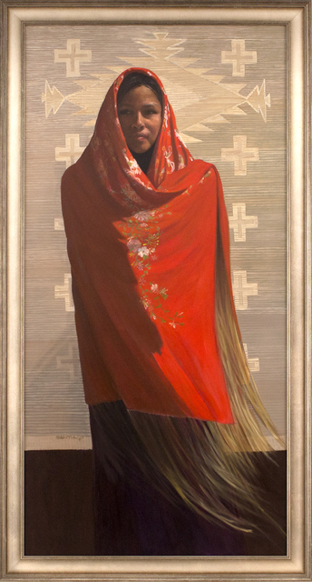 , 'The Red Shawl,' 2017, Blue Rain Gallery