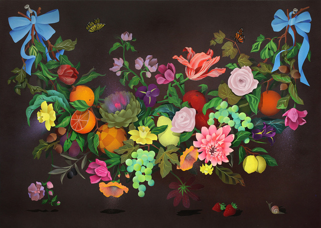 , 'A Swag of Fruits and Flowers 1,' 2016, Hashimoto Contemporary