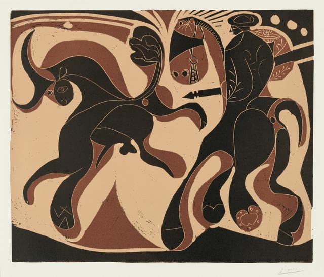 Pablo Picasso, 'Taureau et Picador', 1959, Print, Linocut, Christopher-Clark Fine Art