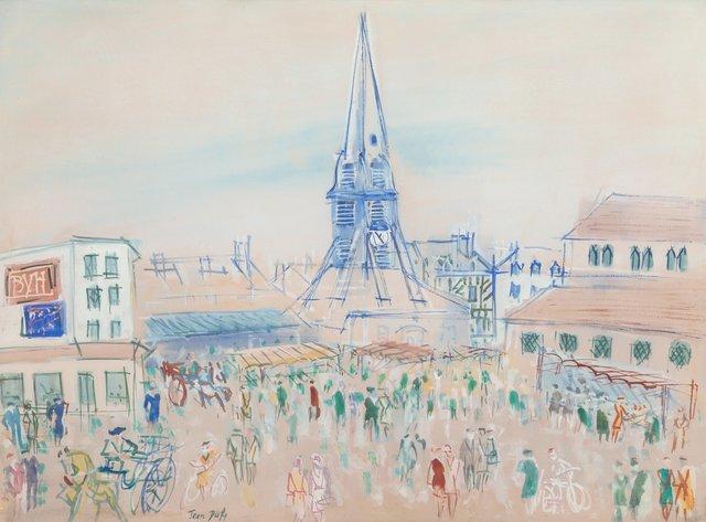 Jean Dufy, 'Honfleur, Place Sainte-Catherine', Heritage Auctions