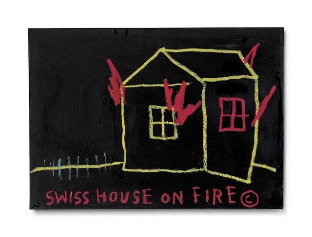 Jean-Michel Basquiat, 'Swiss House on Fire', 1983, Christie's