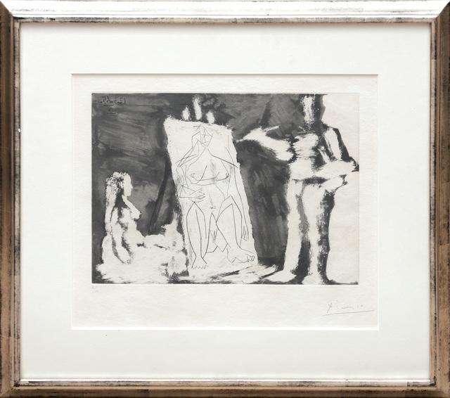 Pablo Picasso, 'Peintre et sa toile, avec un Modèle', 1965, Print, Etching and aquatint on Richard de Bas paper, Peter Harrington Gallery