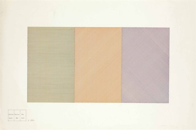 Sol LeWitt, 'Three Part Drawing with Two Colors in Each Part (1970)', Christie's