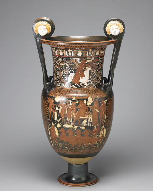 , 'Red-figure volute krater, Southern Italian, Apulia,' ca. 330–320 BC, Legion of Honor