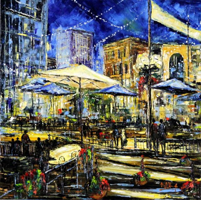 , 'Larimer by Night,' 2015, Bitfactory Gallery
