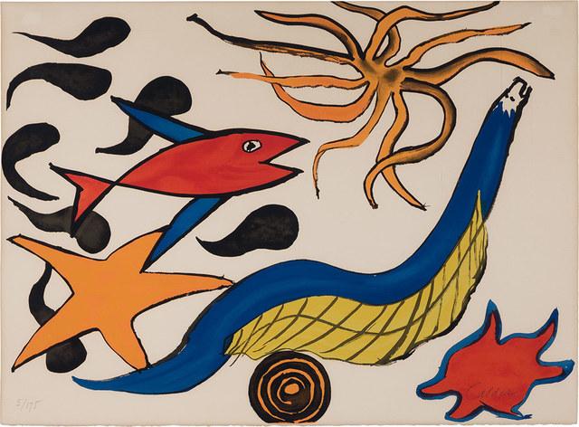 Alexander Calder, 'Star', 1976, Print, Color lithograph, on Arches paper, Doyle