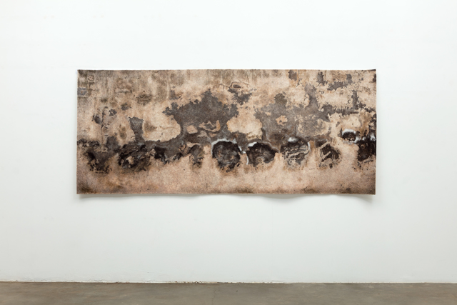 , 'Find the Universe in Oaxaca, El monstrous on brown gray ground,' 2017, Erin Cluley Gallery
