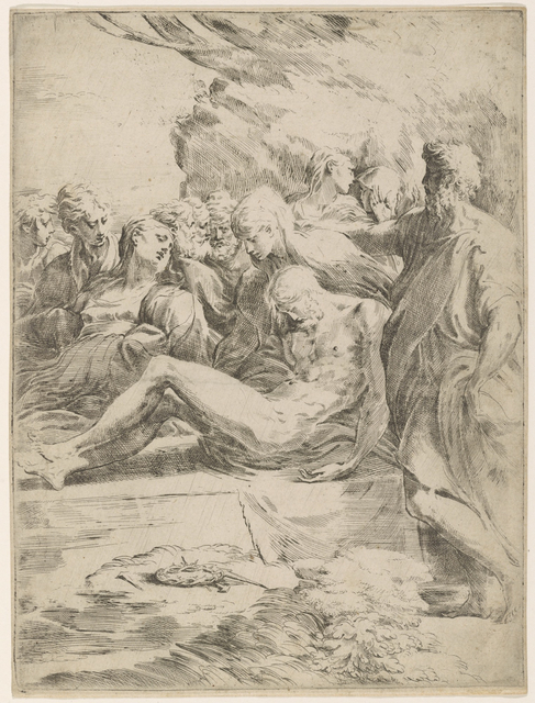 , 'The Entombment,' 1530-1540, Bowdoin College Museum of Art