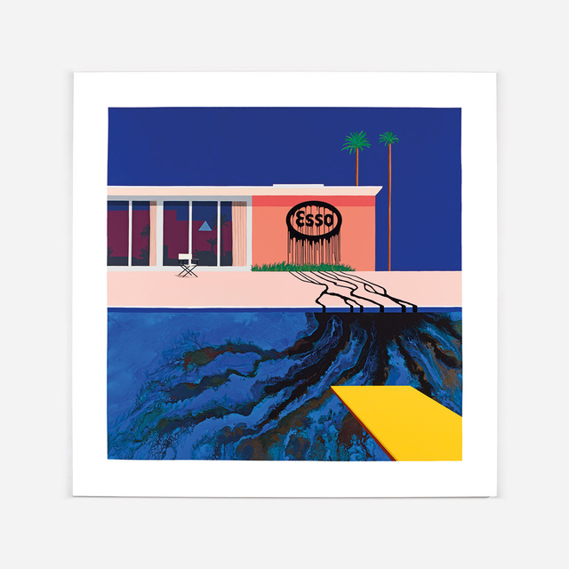 , 'Oil Painting, Esso Blue/Blue,' 2016, Lazinc