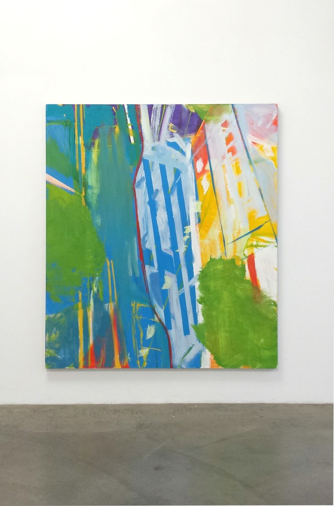 "David Kapp, ""New Work"" installation ""Santa Monica,"" 2014, Oil on linen, 80"" x 70"""