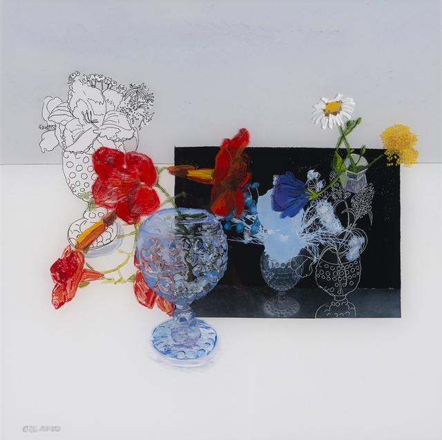 , 'Trumpet Vine in a Blue Vase,' 2018, Valley House Gallery & Sculpture Garden