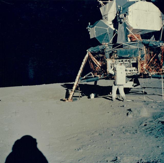 NASA, 'Apollo 11: Buzz Aldrin unpacks experiments from Lunar Module', 1969, Repetto Gallery