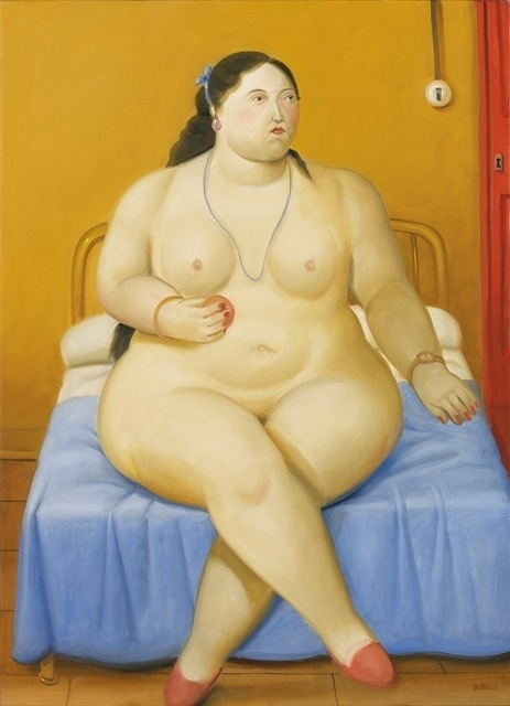 , 'Seated woman with fruit ,' 2012, Fernando Pradilla/El Museo