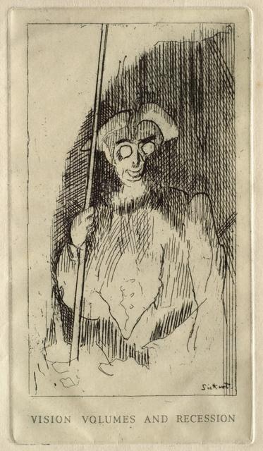 Walter Richard Sickert, 'Visions, Volumes and Recession', 1929, Clark Art Institute