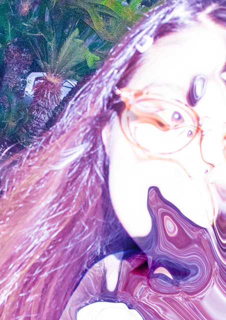 , 'Purple Hair #liquify,' 2015, MIYAKO YOSHINAGA