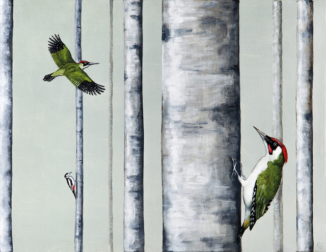 , 'A Drilling of Woodpeckers,' 2018, Jonathan Cooper