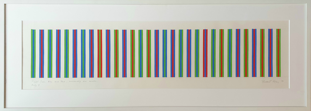 Bridget Riley, 'Bright Green, Blue and Red Surrounded One Another, Study 4', 1973, Painting, Gouache on paper, Tanya Baxter Contemporary