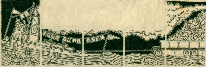Duke Riley, 'Beach 98th Street MTA Station Tugboat Study,' 2011, Magnan Metz Gallery