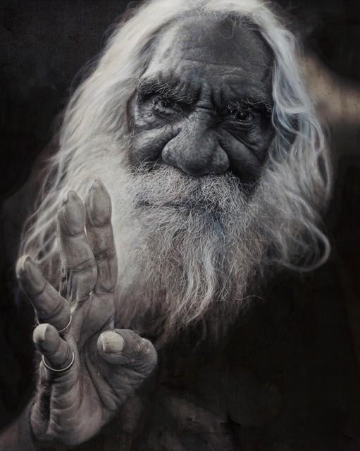 , 'Portrait of Kudditji Kngwarreye (panel 2 of triptych),' 2016, Nanda\Hobbs